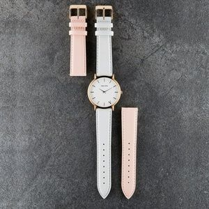 NEW THE: 5TH Rose Gold watch with 2 sets of straps